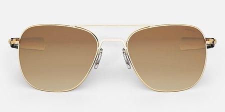 Randolph Engineering Aviator sunglasses - gold/brown