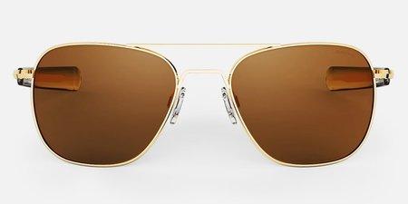 Randolph Engineering Aviator Polarised sunglasses - gold/Tan