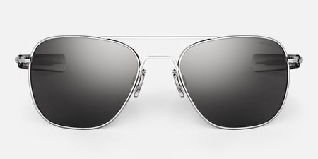 Randolph Engineering Aviator sunglasses - Bright chrome/Grey