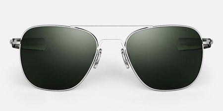 Randolph Engineering Aviator Polarised sunglasses - Bright chrome/gray
