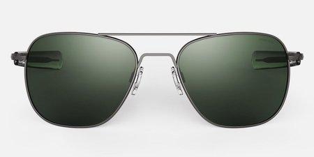 Randolph Engineering Aviator sunglasses - Gunmetal/dark green