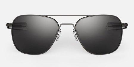 Randolph Engineering Aviator Polarised sunglasses - Gunmetal/grey