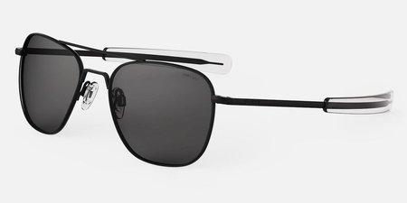 Randolph Engineering Aviator Polarised sunglasses - matt black/grey