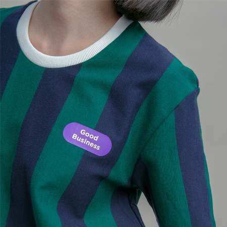 Unisex Matter Matters Good business T-Shirt - Striped Green