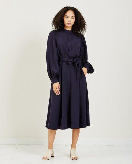 Closed Mayleen Sleek Twill Dress - Dark Night Blue