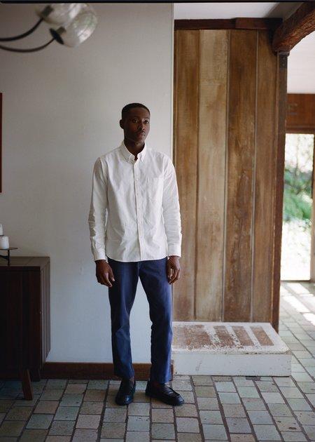 Steven Alan Classic Collegiate Shirt - White Oxford