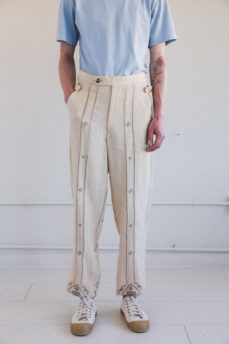 Bode Emblem Ladder Side Tie Trouser