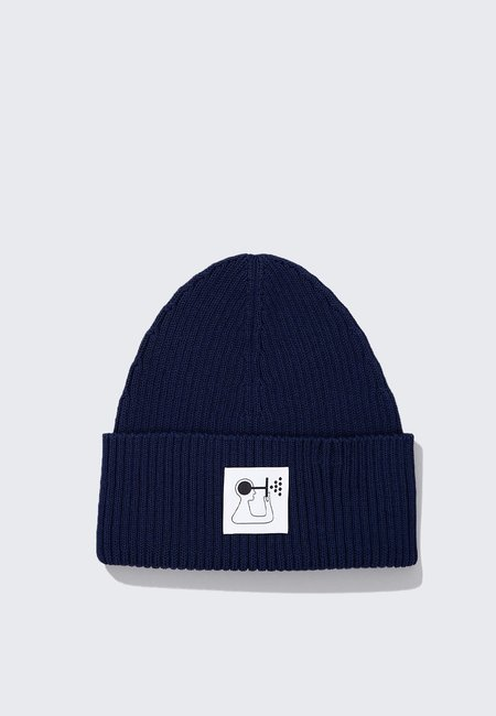Norse Projects GM x NP Rib Beanie - Hydrone Blue