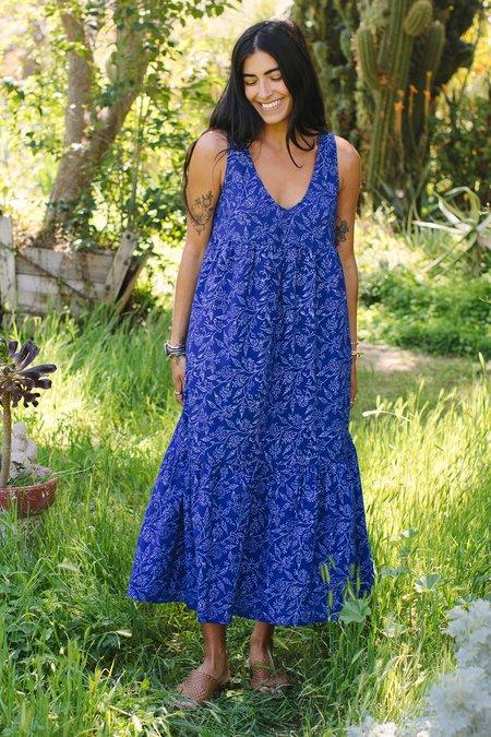 Rachel Pally Cotton Amelia Dress - Indigo Block Print