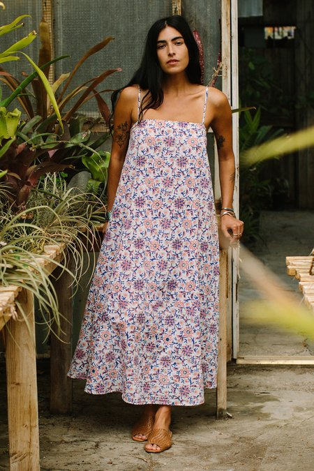 Rachel Pally Mira Cotton Dress - Floral Block Print