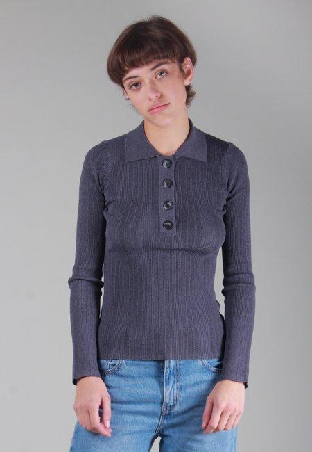 NOBODY DENIM Chelsea Long Sleeve Polo - slate