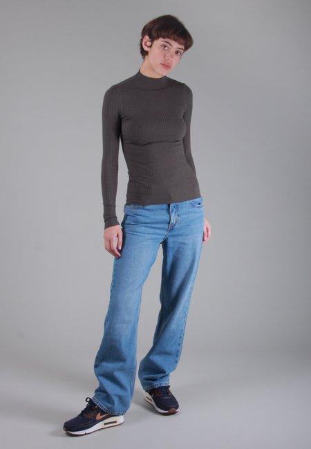 NOBODY DENIM Luxe Rib Funnel Neck Long Sleeve - uniform