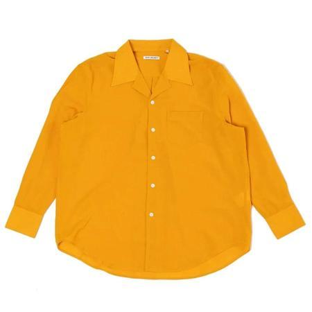 Our Legacy Loco Tech Wool Shirt - Saffron Yellow