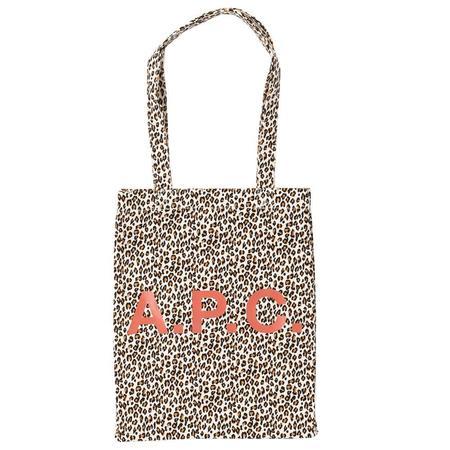 A.P.C. Lou Tote Bag - Leopard Print Canvas