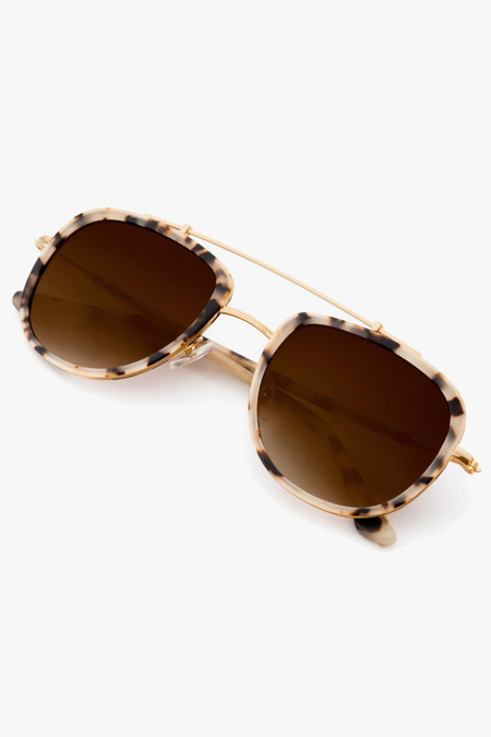 Krewe Breton sunglasses - Gold/Tortoise/Amber