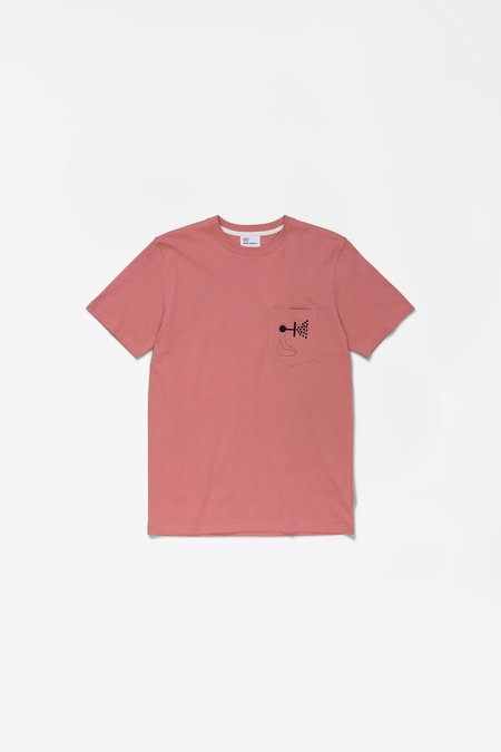 Norse Projects x GM Niels Pocket Mind Wall Tshirt - Rose Quartz