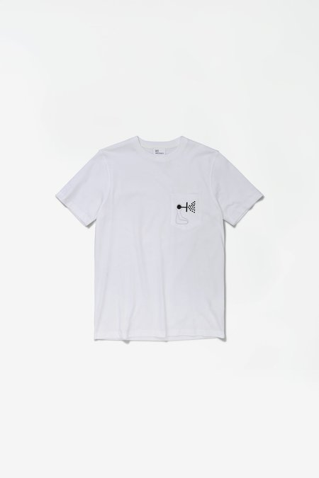 GM x NP Niels Pocket Mind Wall Tshirt - White