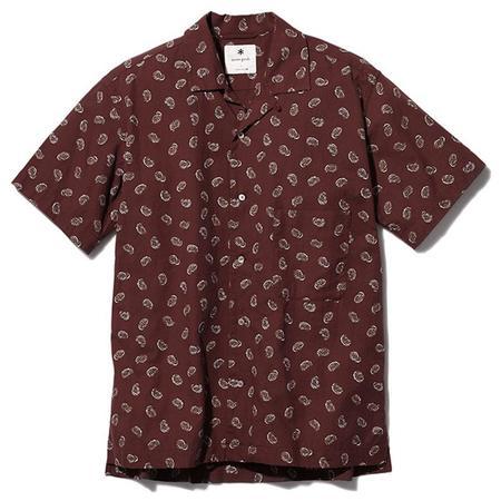 Snow Peak Organic Cotton Poplin Paisley Shirt