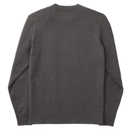 Filson Waffle Knit Thermal Crew Sweater - Charcoal