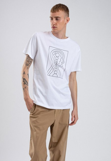 Norse Projects x GM Niels Stick Drawing T-Shirt - White