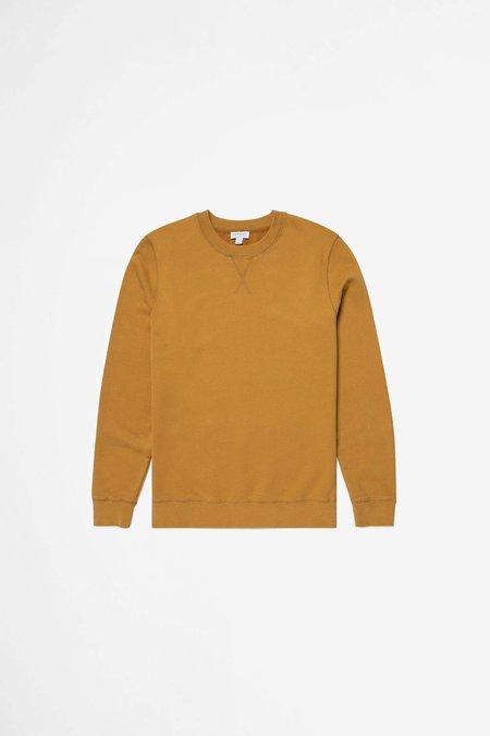 Sunspel Cotton Loopback Sweatshirt - Ochre