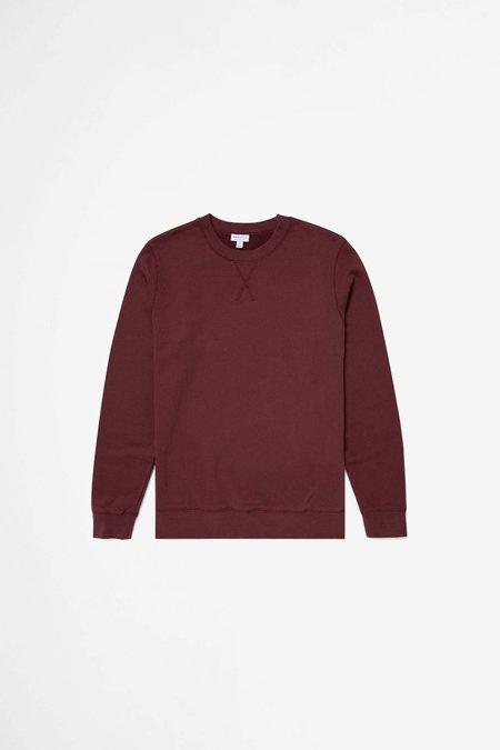 Sunspel Cotton Loopback Sweatshirt - Oxblood