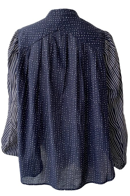Rag & Bone Carly Tie Top - Blue Multi