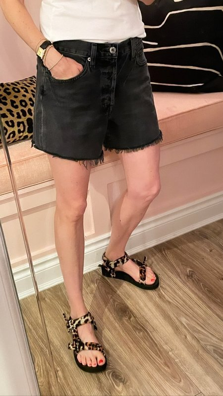 AGOLDE Parker Long Short - Chromatic Washed Black