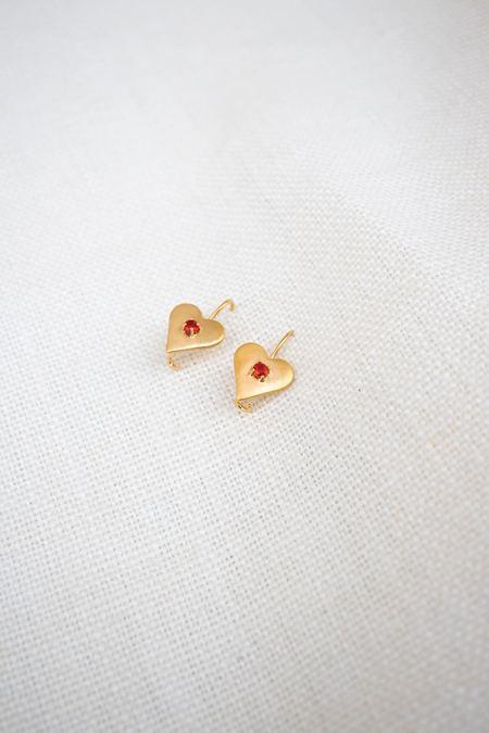 Mondo Mondo Sweetheart Earrings - Gold