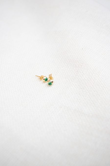 Mondo Mondo Vero 14K Studs - Emerald