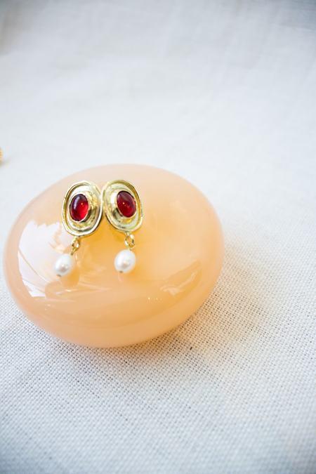 Mondo Mondo Viva Earrings - Red