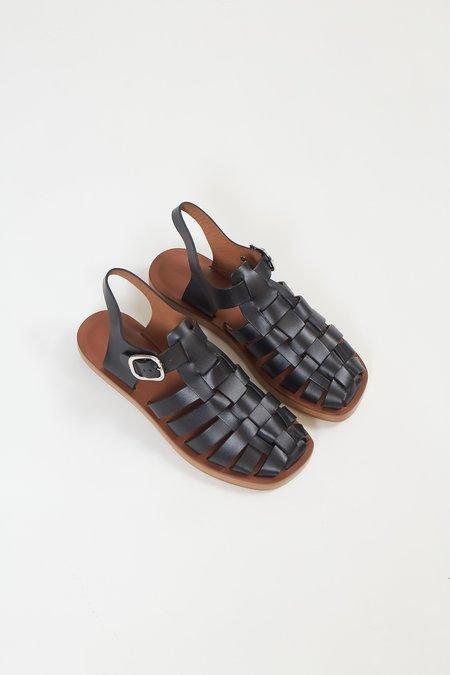 Rachel Comey Tucker Vachetta Leather Sandal - Black