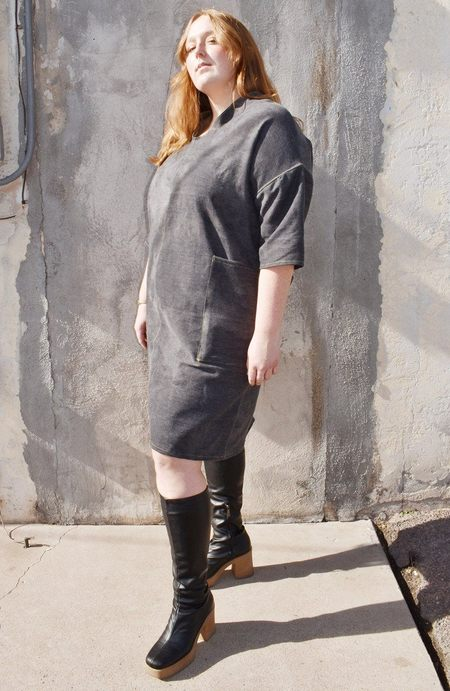 Noons Back Tie Denim Dress