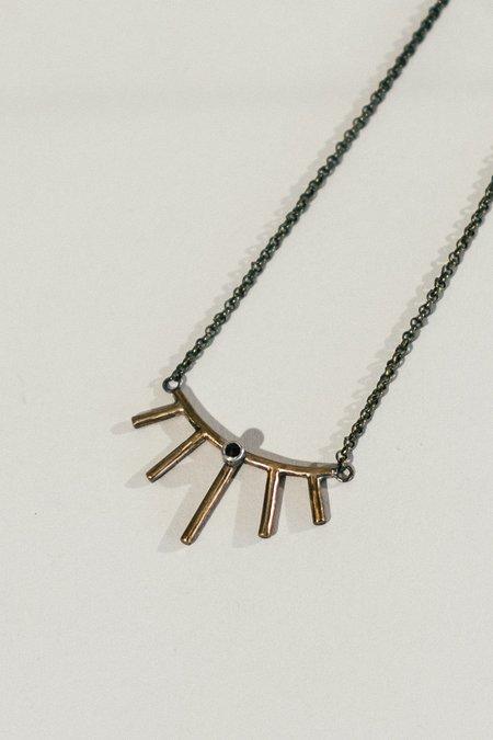 Stray Mini Sunray Necklace with stone
