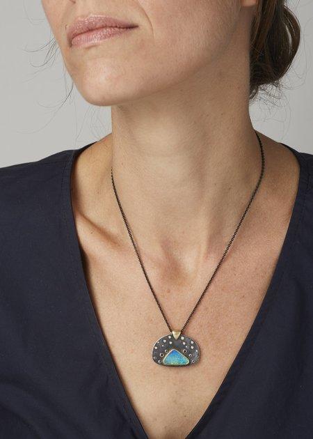 Tony Malmed Jewelry Starry Night Oxidized Opal Pendant