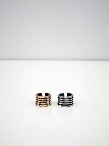 Unisex Kat Seale Ribbed Ring - Bronze