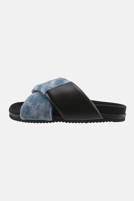 ROAM Cross Slide Shoes - Denim Shibori Cloud Wash