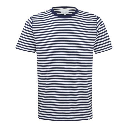 Norse Projects Niels Classic Stripe Standard T-Shirt - Navy