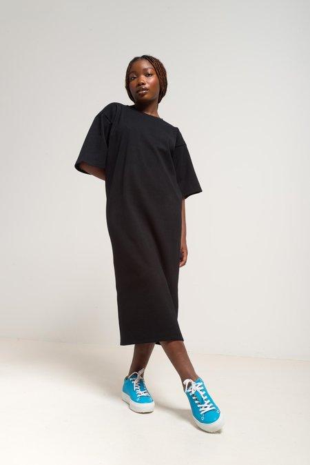 Odeyalo BARBARA zero waste midi dress - black
