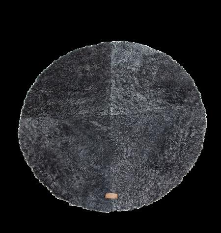 Shepherd of Sweden Ebba Round Rug - Black Graphite