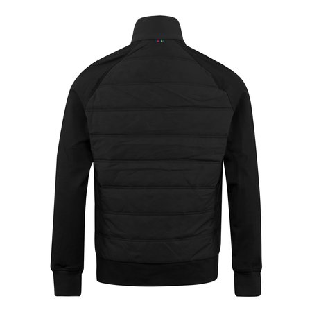PAUL SMITH Mixed Media Padded Funnel Neck Jacket - Black