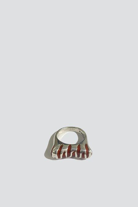Vintage Red Tiger Ring - Sterling Silver