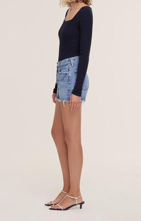 AGOLDE  Parker Cut Off Shorts - Swapmeet Dark