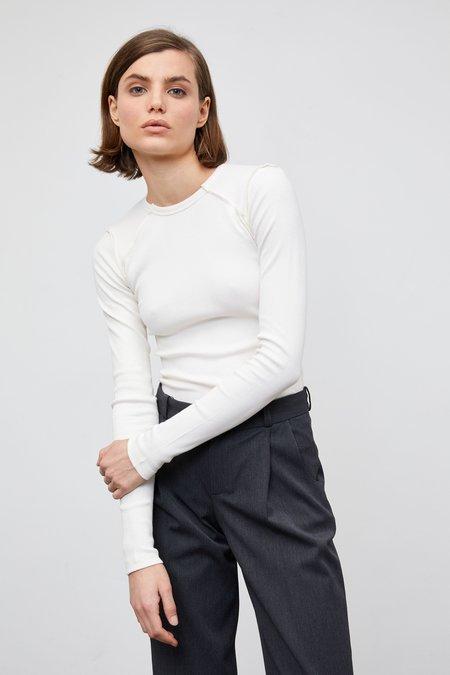 Yuliawave Cotton Long Sleeve Shirt - Ivory