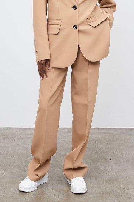 Yuliawave Low-Rise Suit Pants - Beige