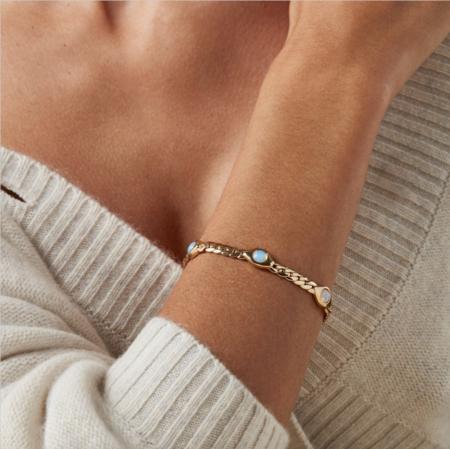Jenny Bird Oko Bracelet - 14K gold-dipped brass