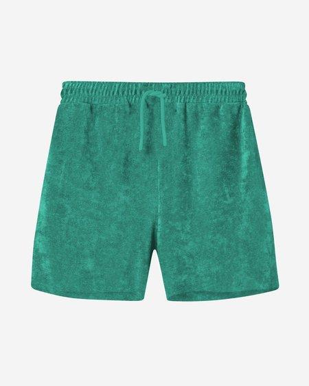 Unisex Leo Boutique Nikben Terry Shorts - Green