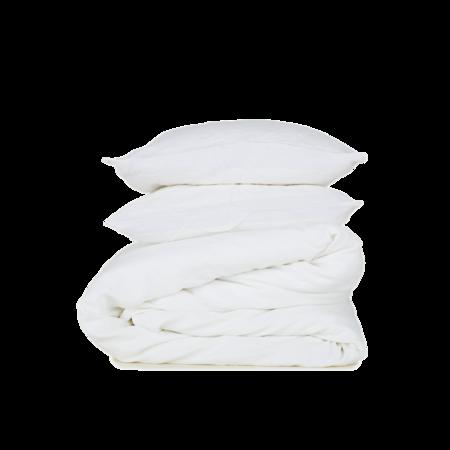 Hawkins New York Simple Linen Duvet Cover Queen - Ivory