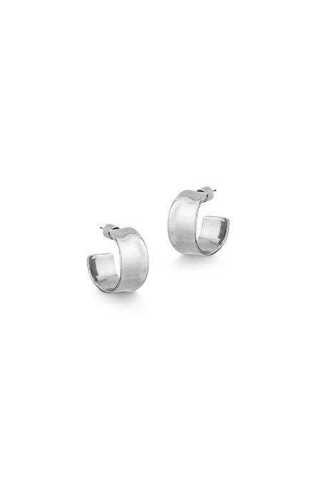 Jenny Bird Ora Hoops - Sterling silver-dipped brass
