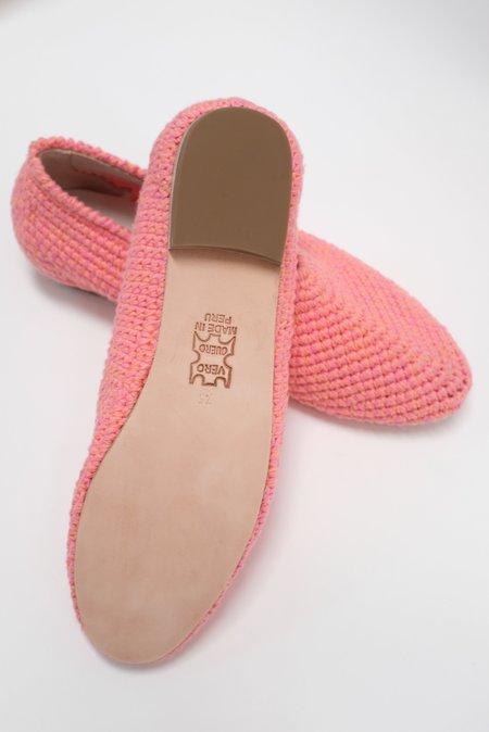 Beklina Crochet Ballet Flats - Pink
